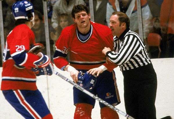 "Habs enforcer, Chris ""Knuckles"" Nilan"