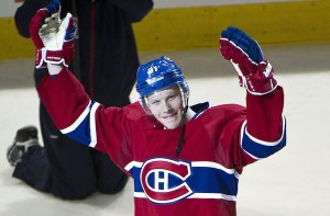 Habs Lars Eller Being Cheered by Fans