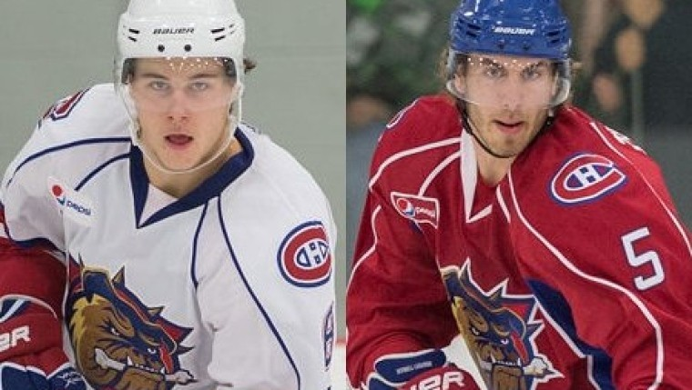 Habs' Nathan Beaulieu and Jarred Tinordi