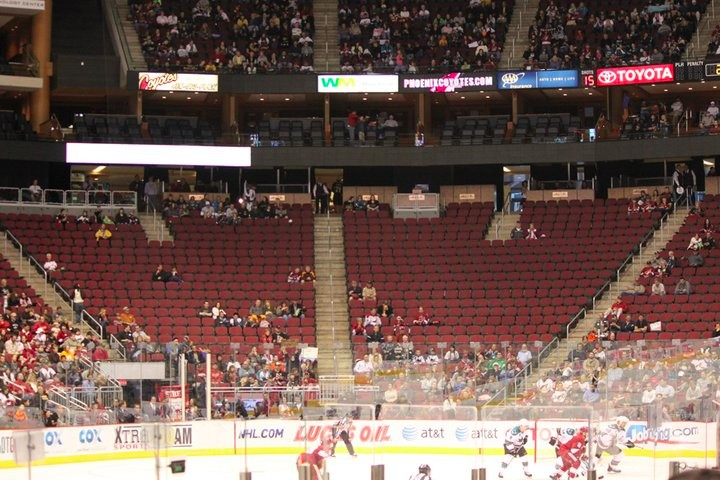 Arizona empty arena, NHL