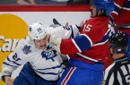 Habs' George Parros fighting